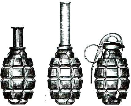 Les grenades artisanales et réglementaires françaises  1 Grenade%20f1%20modele%201915%201